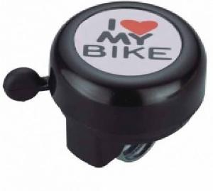Звонок I love my bike черный